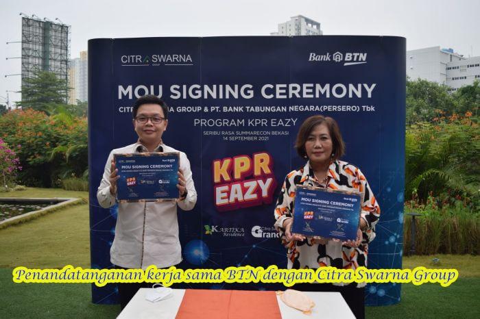Citra Swarna Group Gandeng dengan BTN Genjot Penjualan KPR EAZY