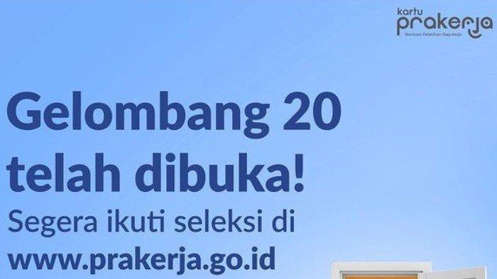 Syarat Mendaftar Kartu Prakerja Gelombang 20