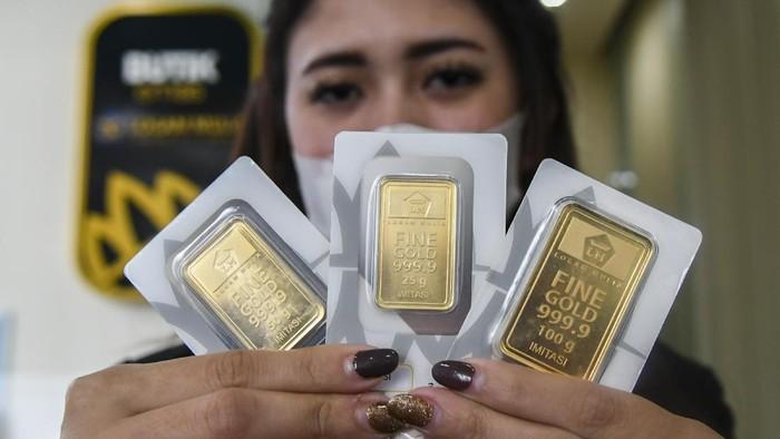 Harga emas PT. ANTAM turun hari ini